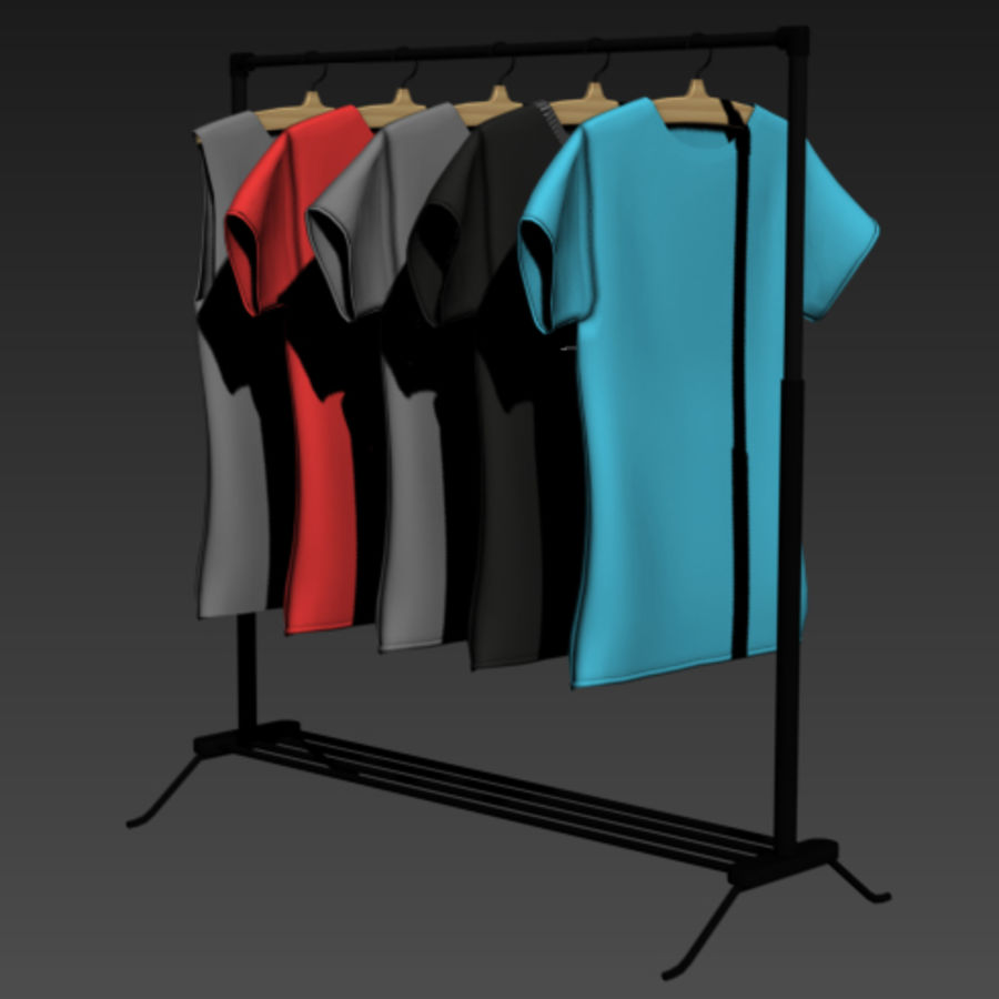 T-Shirt Nike mit Kleiderbügel Teil 2 royalty-free 3d model - Preview no. 10