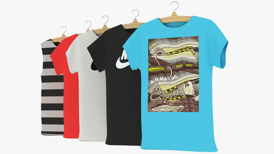 Askı Bölüm 2 ile T-shirt nike royalty-free 3d model - Preview no. 8