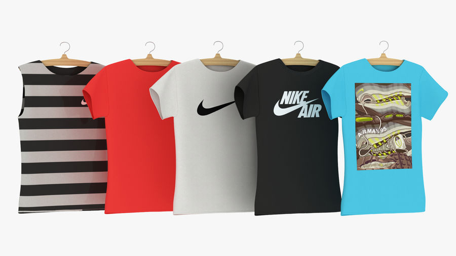 Askı Bölüm 2 ile T-shirt nike royalty-free 3d model - Preview no. 2