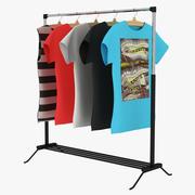 T-shirt nike with hanger Part 2 3d model