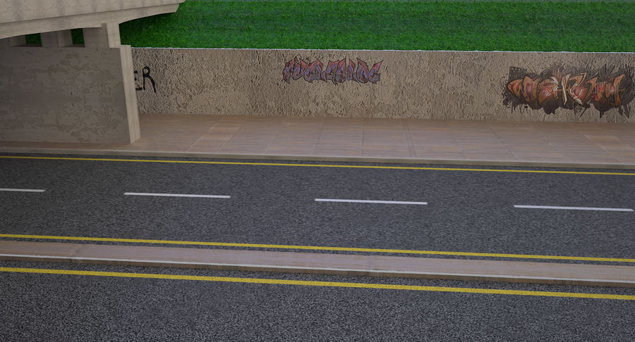 Overpass royalty-free 3d model - Preview no. 6