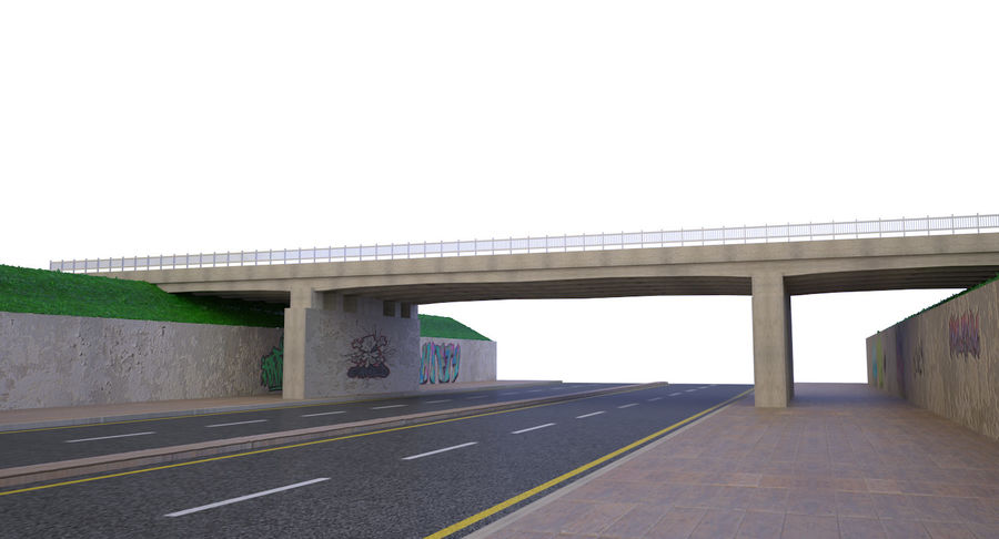 Overpass royalty-free 3d model - Preview no. 1