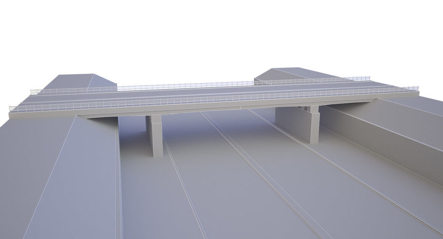 Overpass royalty-free 3d model - Preview no. 10