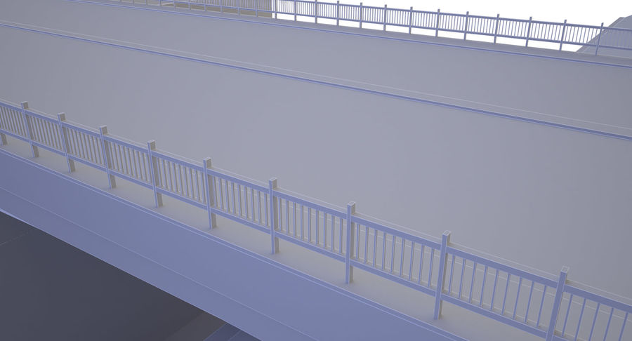 Overpass royalty-free 3d model - Preview no. 8