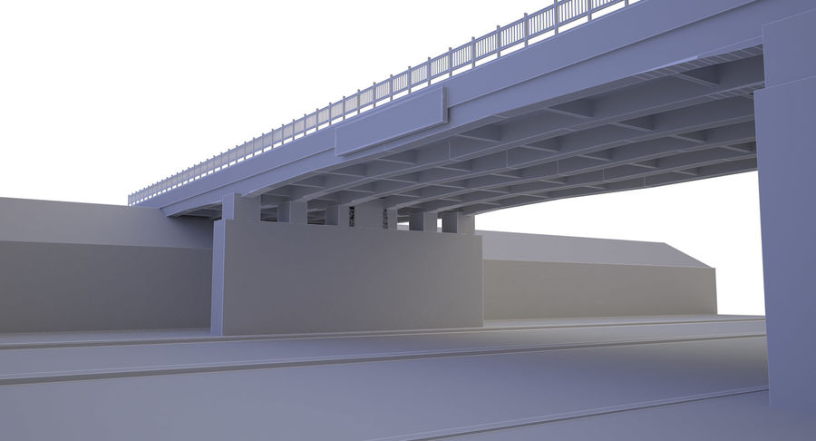 Overpass royalty-free 3d model - Preview no. 9