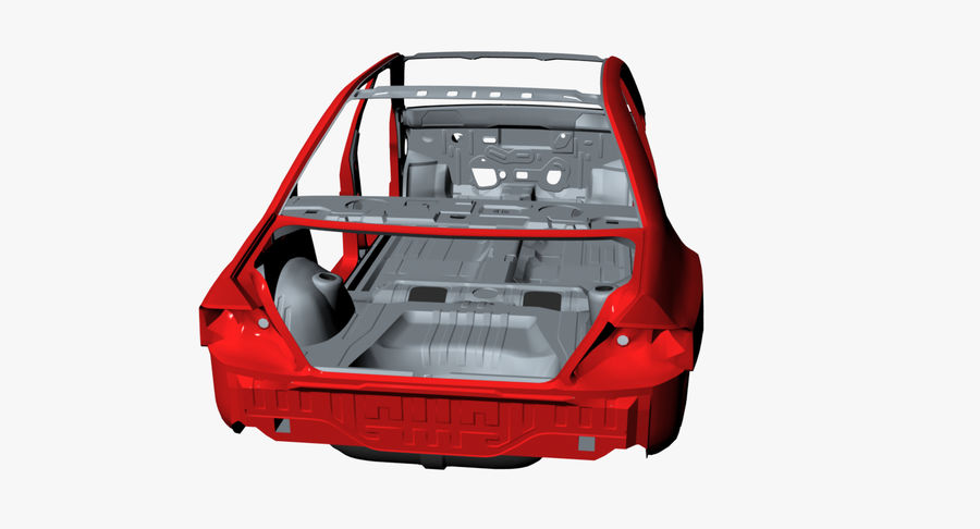 Car Frame royalty-free 3d model - Preview no. 8