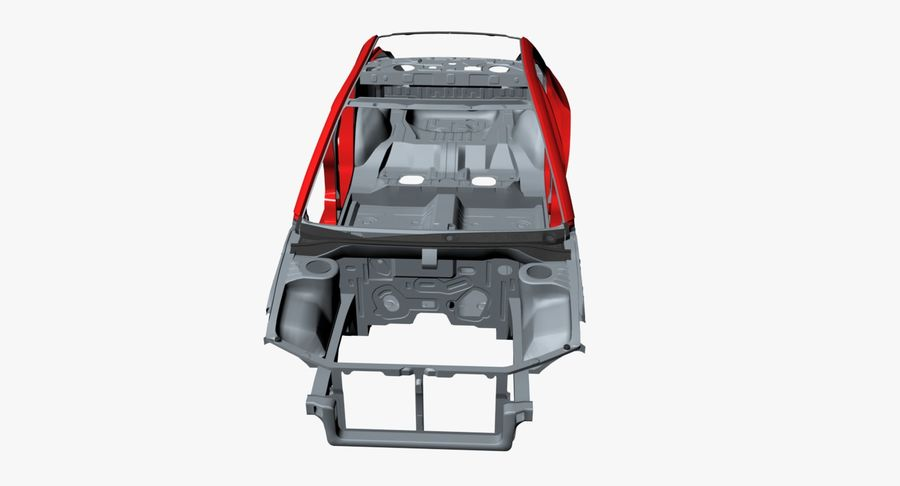 Car Frame royalty-free 3d model - Preview no. 10