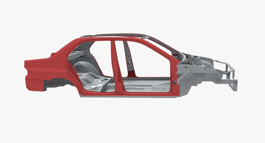 Car Frame royalty-free 3d model - Preview no. 5