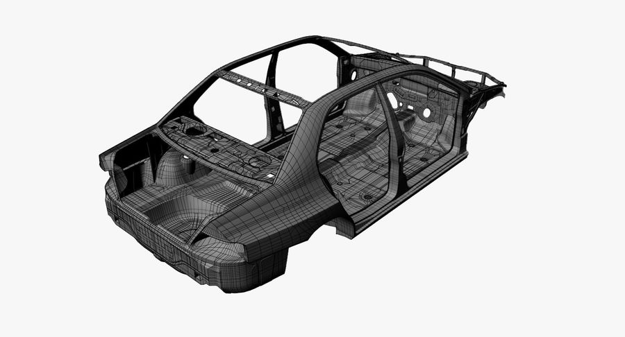 Car Frame royalty-free 3d model - Preview no. 15