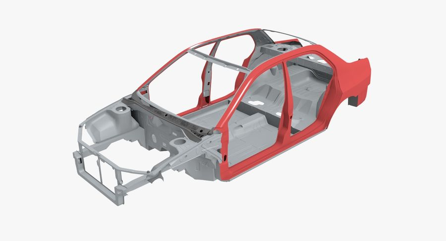 Car Frame royalty-free 3d model - Preview no. 1