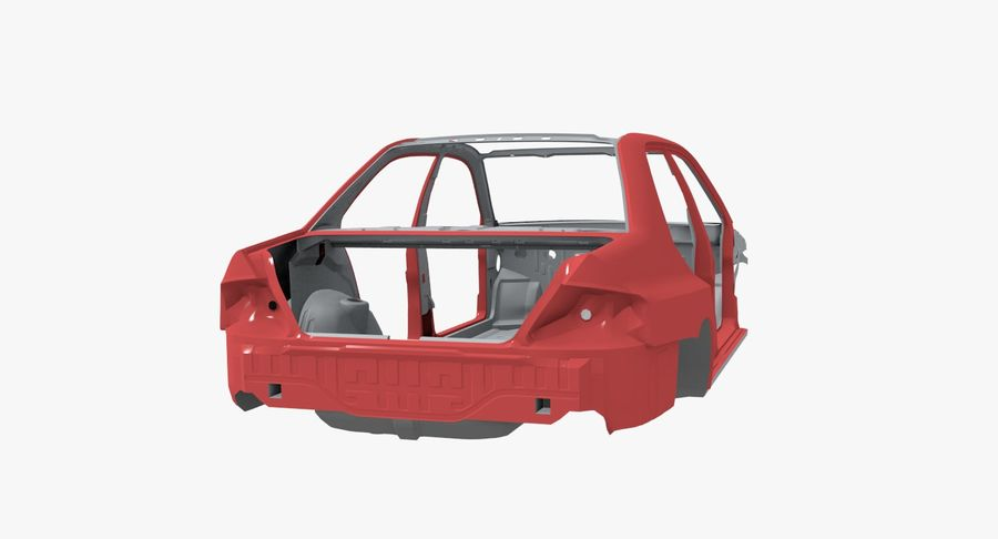 Car Frame royalty-free 3d model - Preview no. 4