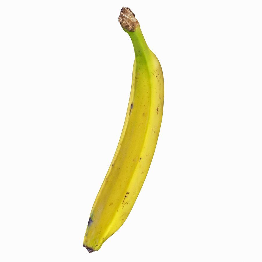 Fruta de plátano realista royalty-free modelo 3d - Preview no. 41