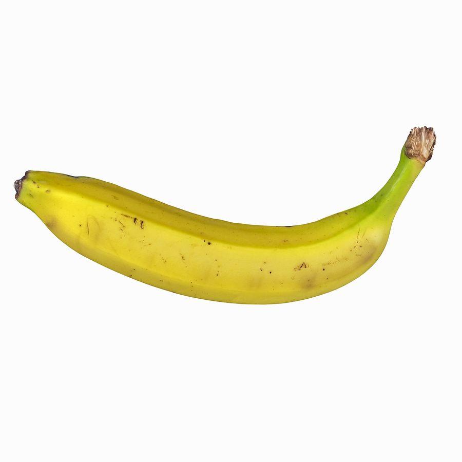 Fruta de plátano realista royalty-free modelo 3d - Preview no. 4