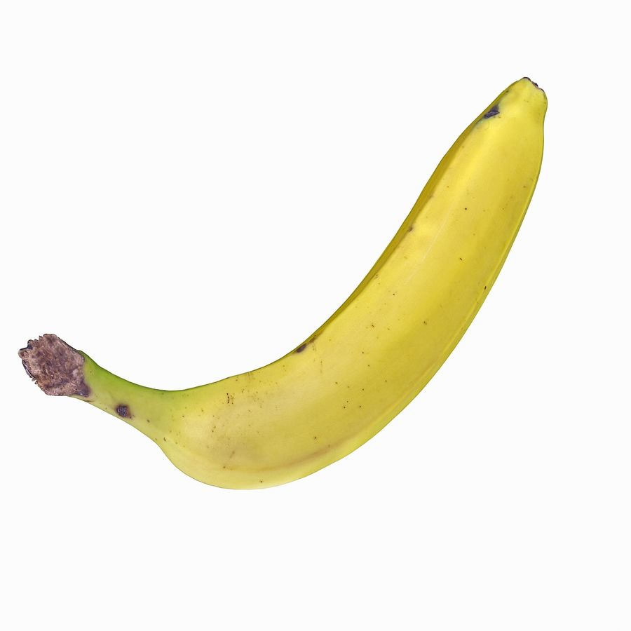 Fruta de plátano realista royalty-free modelo 3d - Preview no. 30