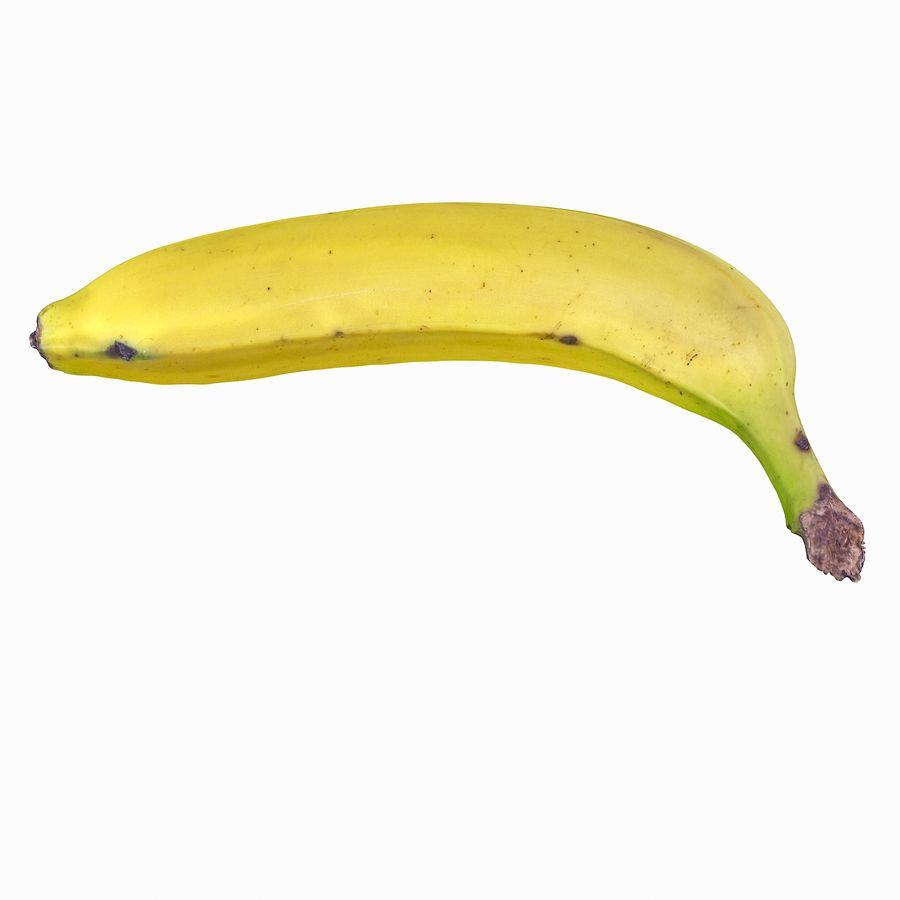 Fruta de plátano realista royalty-free modelo 3d - Preview no. 5