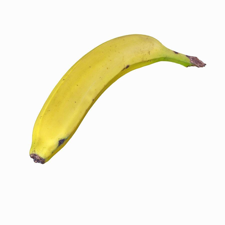 Fruta de plátano realista royalty-free modelo 3d - Preview no. 7