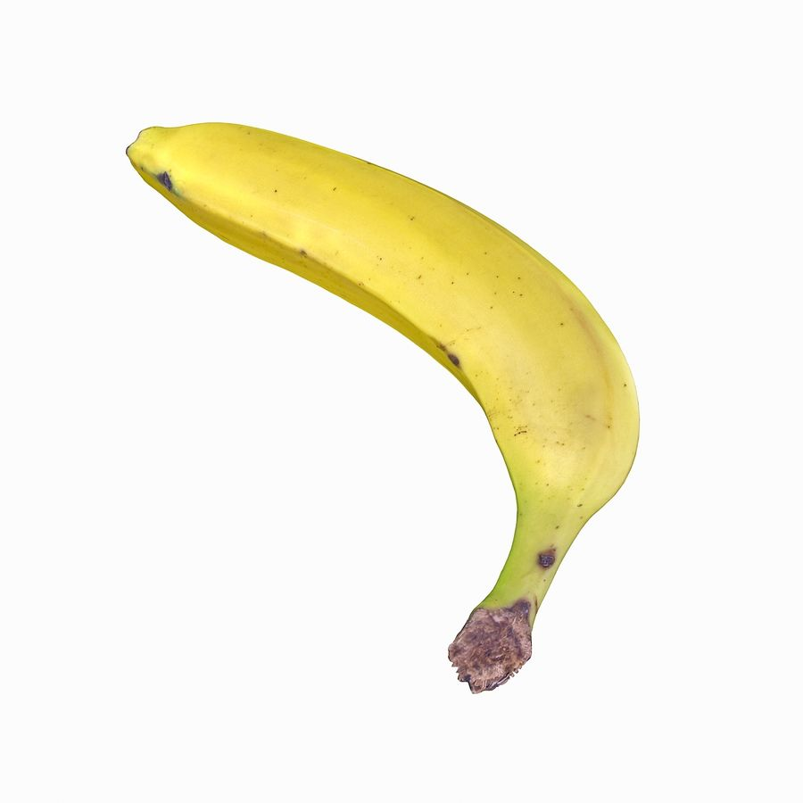 Fruta de plátano realista royalty-free modelo 3d - Preview no. 26