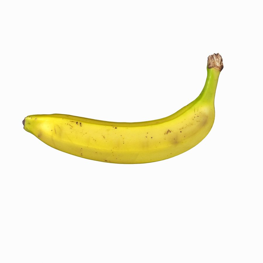 Fruta de plátano realista royalty-free modelo 3d - Preview no. 15