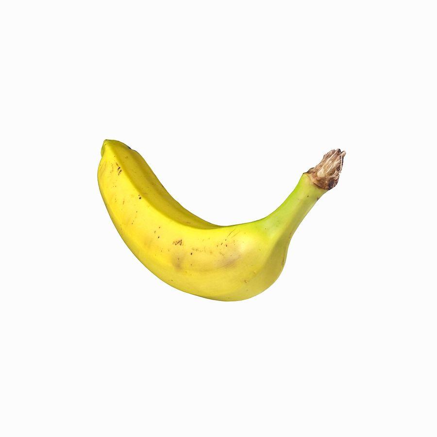 Fruta de plátano realista royalty-free modelo 3d - Preview no. 16