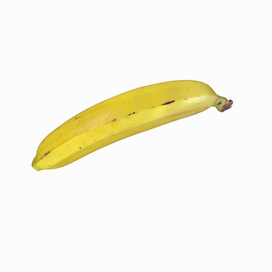 Fruta de plátano realista royalty-free modelo 3d - Preview no. 23