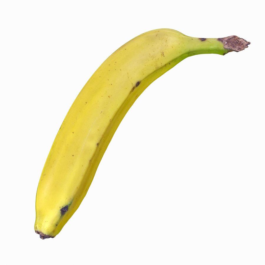 Fruta de plátano realista royalty-free modelo 3d - Preview no. 3