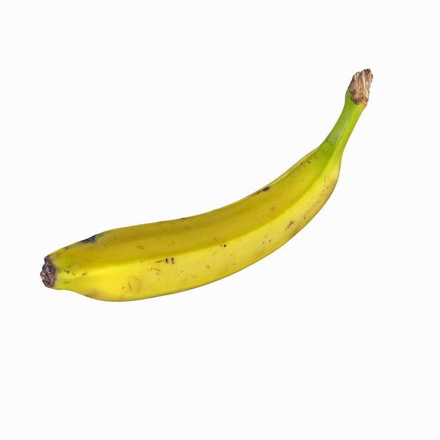 Fruta de plátano realista royalty-free modelo 3d - Preview no. 25