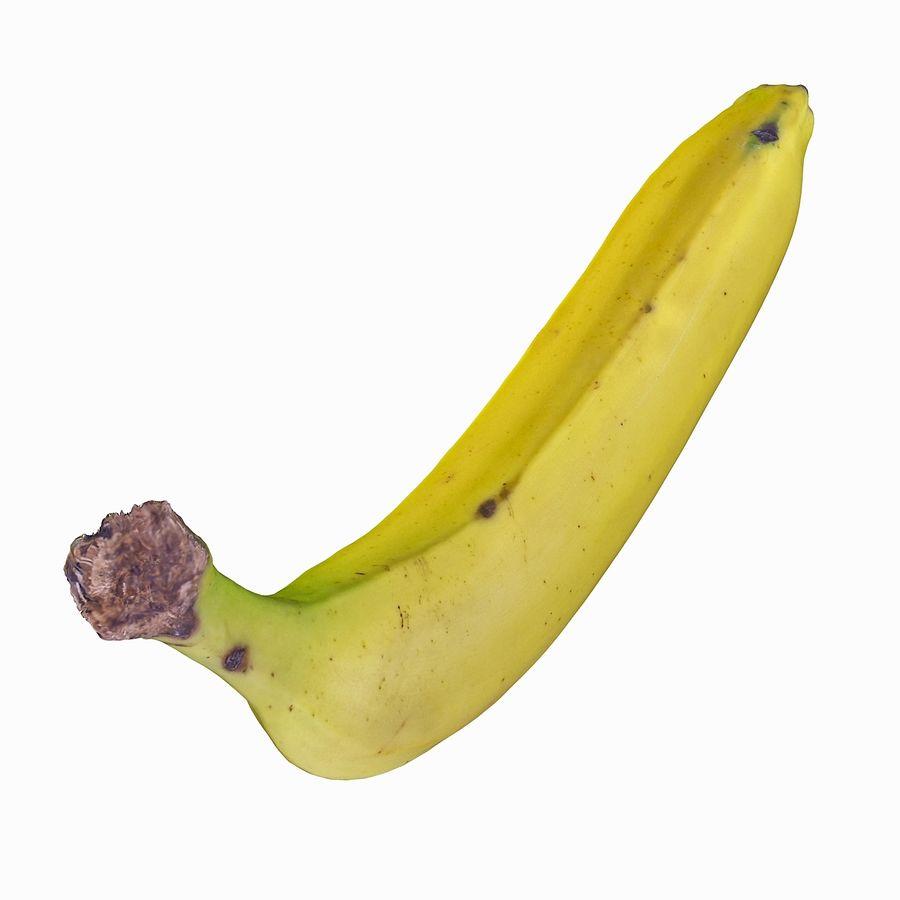 Fruta de plátano realista royalty-free modelo 3d - Preview no. 18