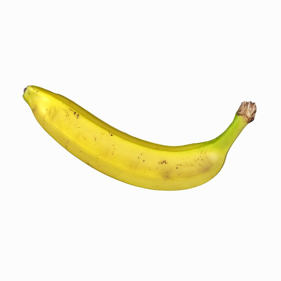 Fruta de plátano realista royalty-free modelo 3d - Preview no. 20