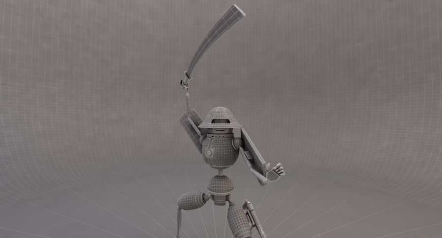 SciFi Robot 11 - Militärischer Kampfroboter royalty-free 3d model - Preview no. 7