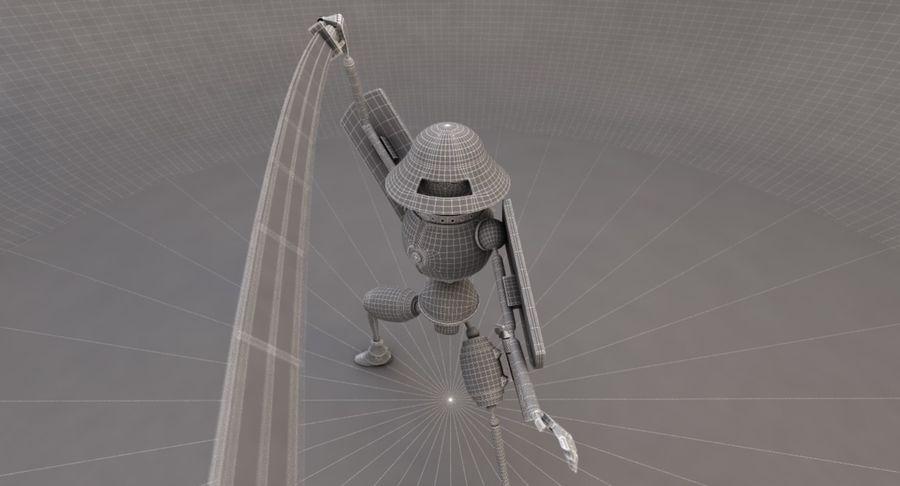 SciFi Robot 11 - Militärischer Kampfroboter royalty-free 3d model - Preview no. 8