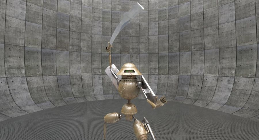 SciFi Robot 11 - Militärischer Kampfroboter royalty-free 3d model - Preview no. 2