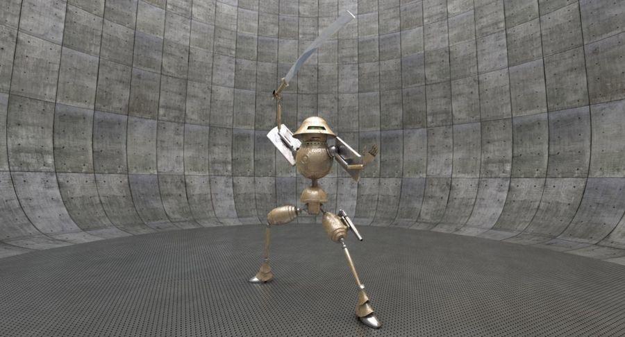 SciFi Robot 11 - Militärischer Kampfroboter royalty-free 3d model - Preview no. 4