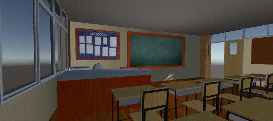 Sala lekcyjna royalty-free 3d model - Preview no. 4
