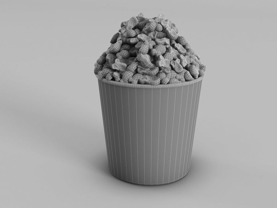 POPCORN BUCKET royalty-free 3d model - Preview no. 4
