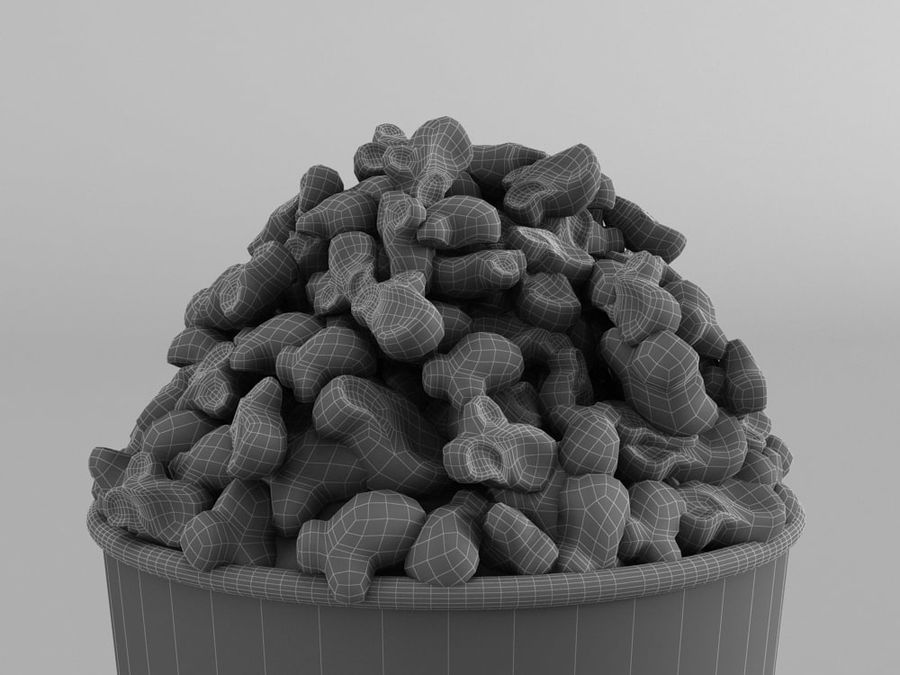 POPCORN BUCKET royalty-free 3d model - Preview no. 6