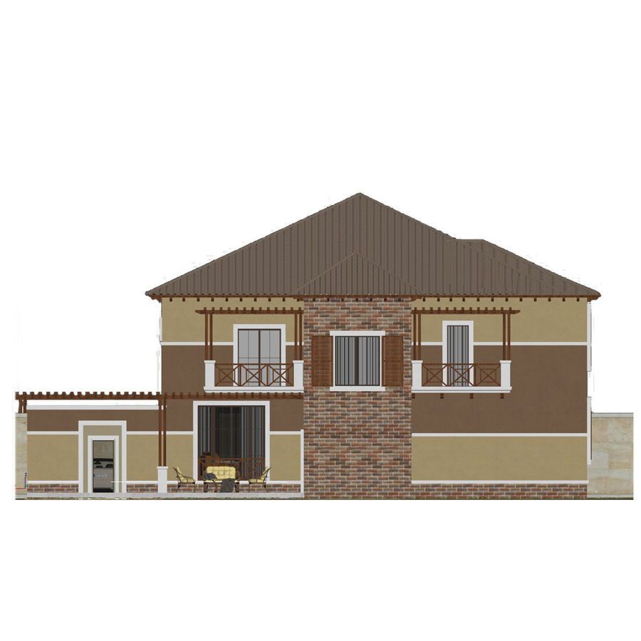 house royalty-free 3d model - Preview no. 4