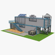 Container House 01 3d model