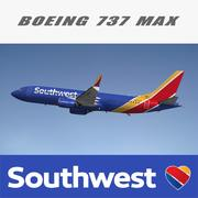 Boeing 737 MAX Southwest 3d model