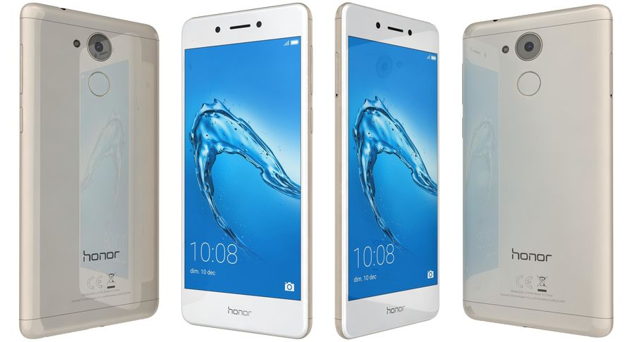 Huawei Honor 6C Gold royalty-free 3d model - Preview no. 1
