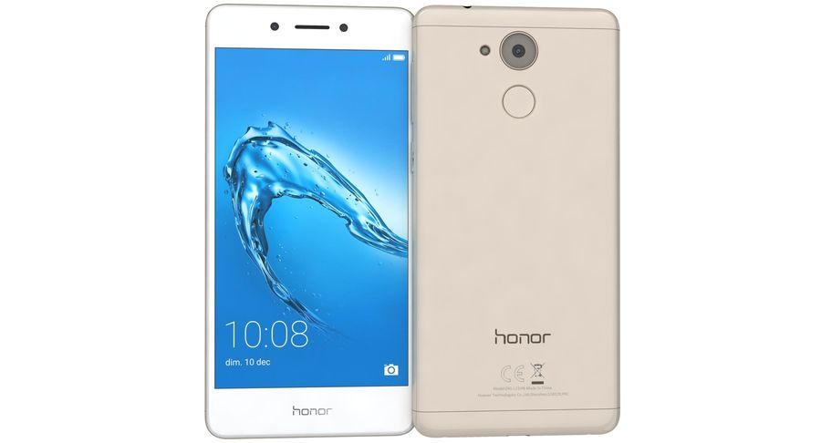 Huawei Honor 6C Gold royalty-free 3d model - Preview no. 8