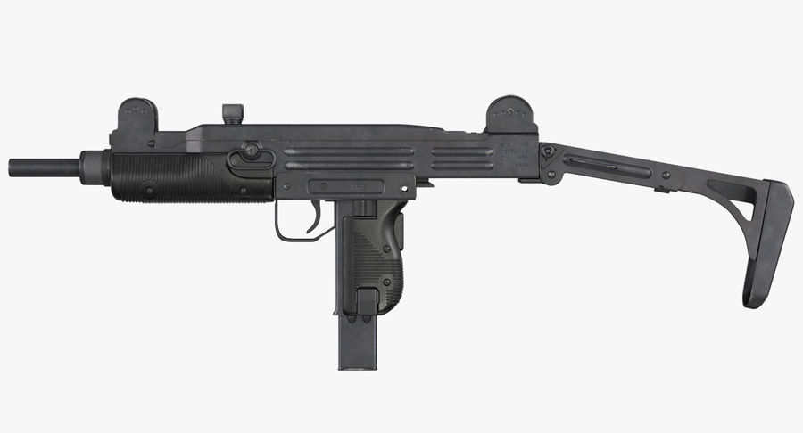 Fucile mitragliatore UZI SMG royalty-free 3d model - Preview no. 2