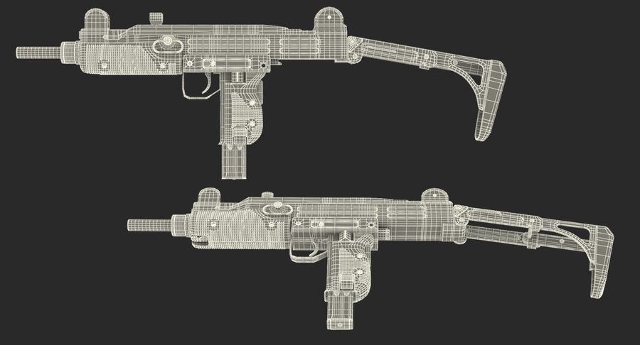 Fucile mitragliatore UZI SMG royalty-free 3d model - Preview no. 22