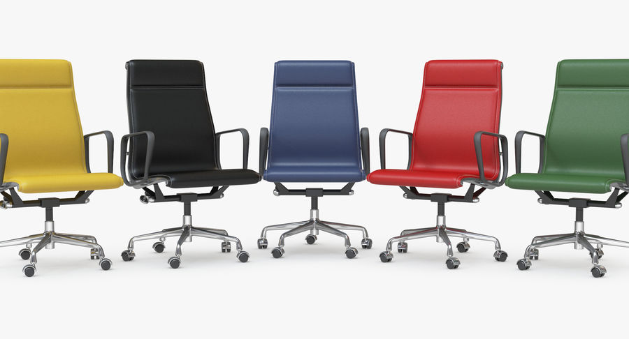 Eames Boss Office Chair royalty-free 3d model - Preview no. 14