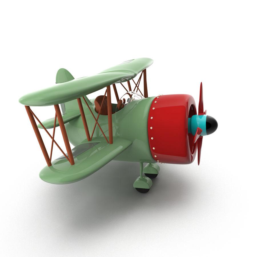 Samolot kreskówki royalty-free 3d model - Preview no. 6