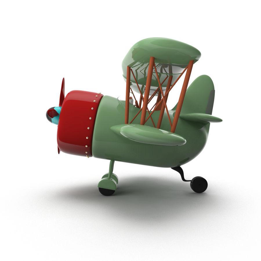 Samolot kreskówki royalty-free 3d model - Preview no. 10