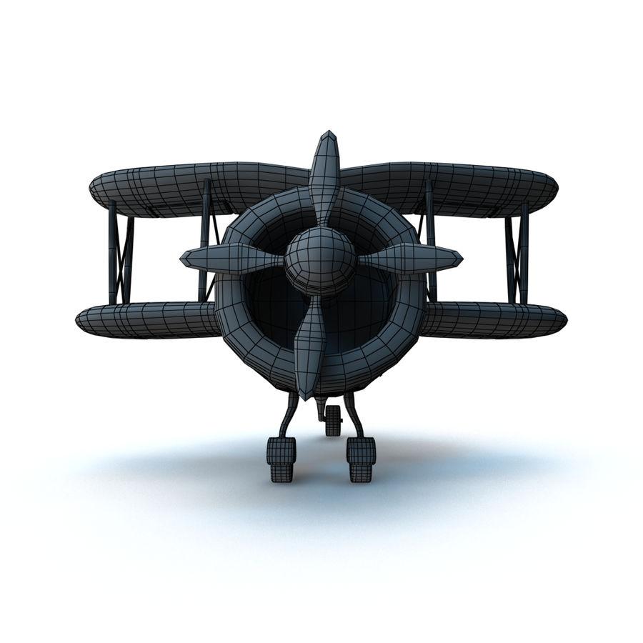 Samolot kreskówki royalty-free 3d model - Preview no. 18