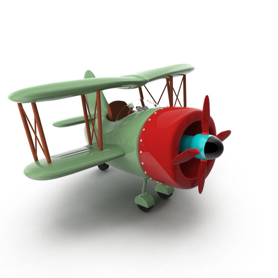 Samolot kreskówki royalty-free 3d model - Preview no. 1