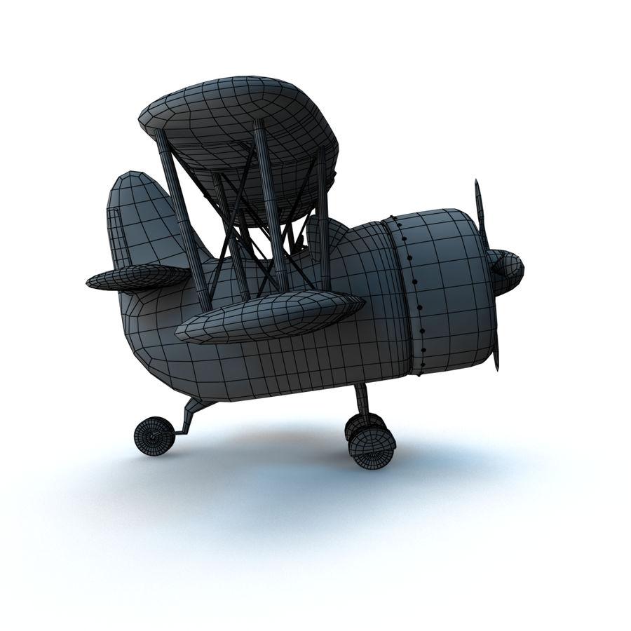 Samolot kreskówki royalty-free 3d model - Preview no. 17