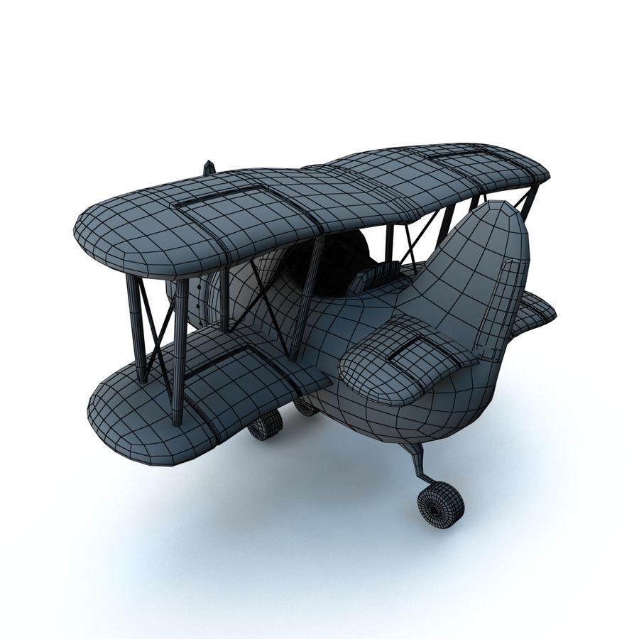 Samolot kreskówki royalty-free 3d model - Preview no. 16