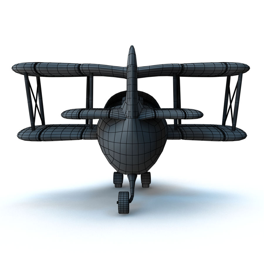 Samolot kreskówki royalty-free 3d model - Preview no. 19